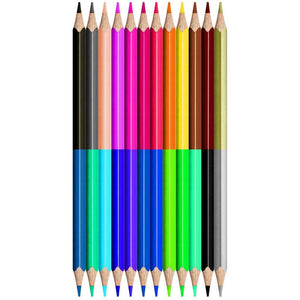 Color Peps Coloured Pencils X12 Duo