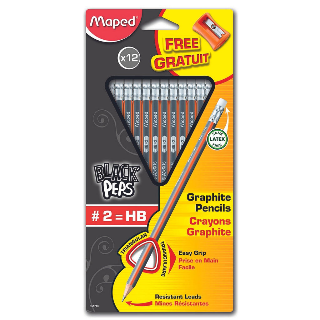 Graphite Hb Pencil Pk12 With Sharpener