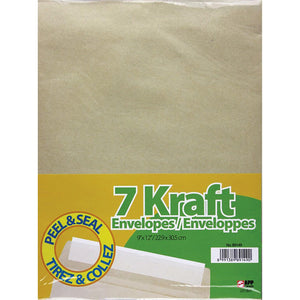 7 Kraft Envelopes Peel & Seal - Dollar Max Depot