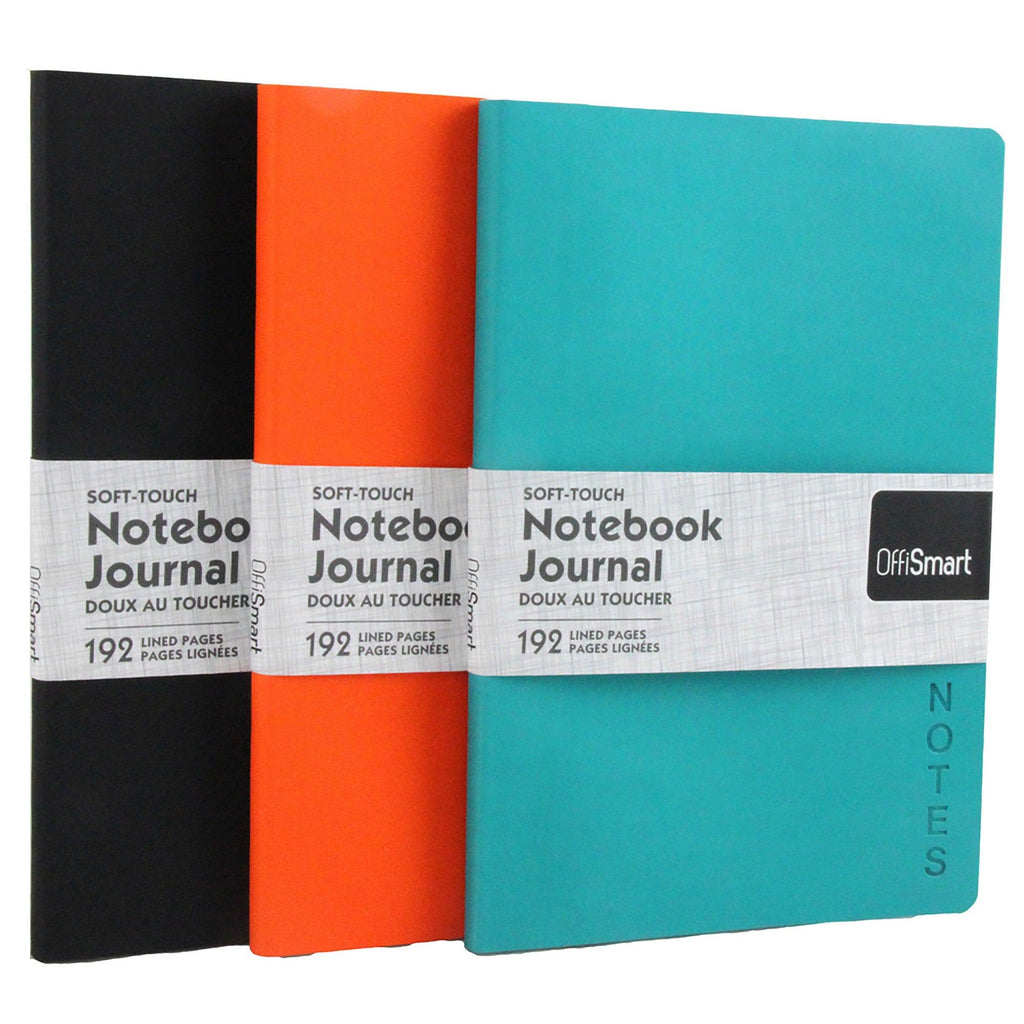 Journal Simili-Leather 7X9Po (Soft Touch) - Dollar Max Depot
