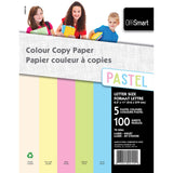 Colour Copy Paper 100 Sheets 5 Pastel Colours - Dollar Max Depot