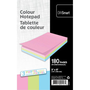Pastel Writing Pad Ruled 5X8 180Pg