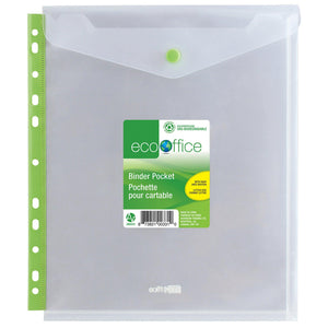Eco Top-Loading Binder Pocket - Dollar Max Depot