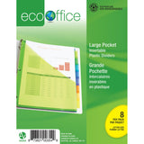 Eco Index Tab Dividers With Pockets - 8 Tabs
