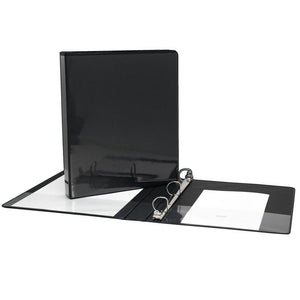 Presentation Binder D-Ring Black 1 inch - Dollar Max Depot