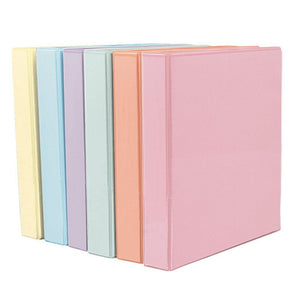 Presentation Binder D-Ring Pastel Colors - Dollar Max Depot