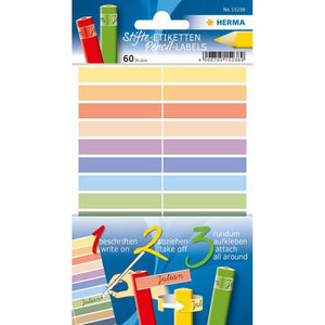 Pencil Labels 10X46 Mm Assorted