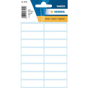 Vario Rectangular Labels 13X40 Mm White