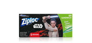 Disney Star Wars Ziploc Seal Top Sandwich Bags 66/Box - Dollar Max Depot