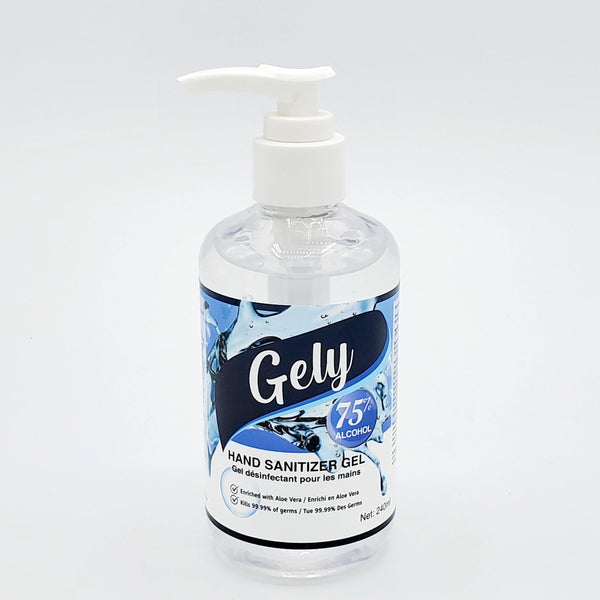 75% Alcohol 240ml Hand Sanitizer Gel Enriched With Aloe Vera - Kills 99.99% Germs