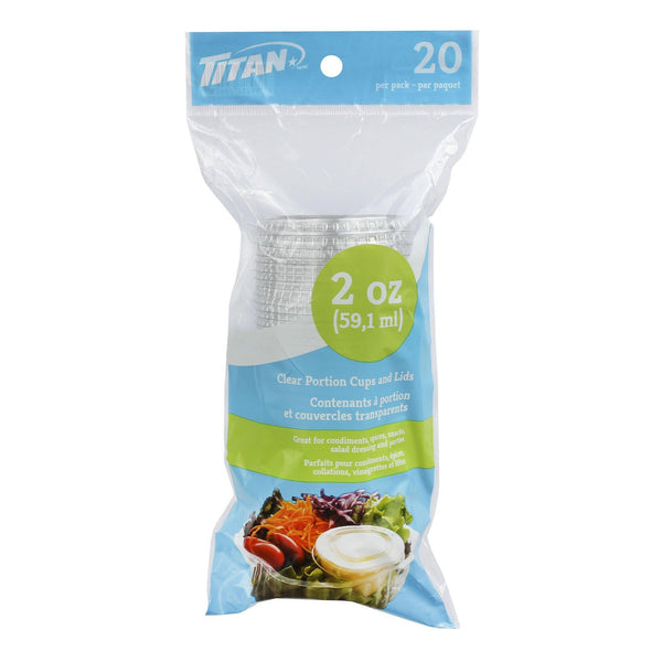 2 Oz Pp Portion Cup And Lid Combo 20/Bag