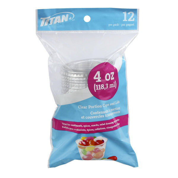 4 Oz Pp Portion Cup And Lid Combo 12/Bag