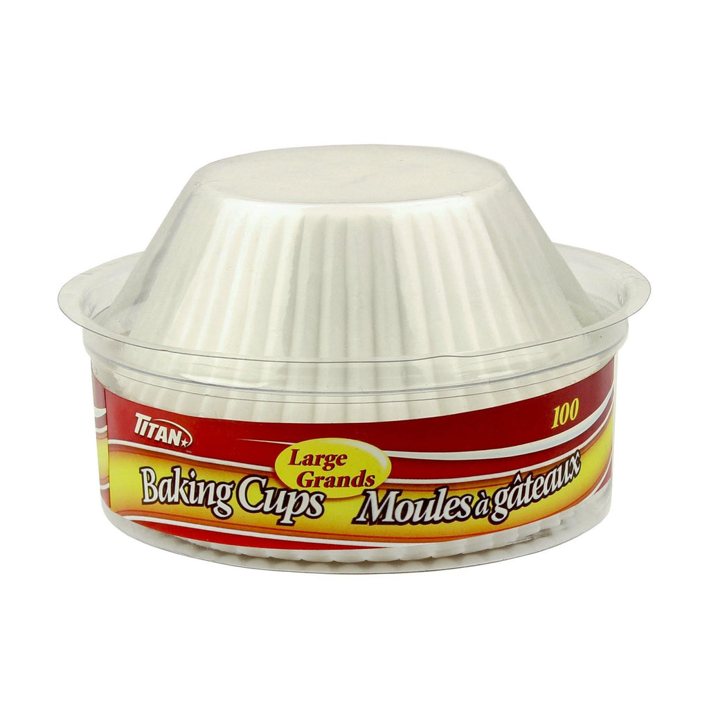 Titan Large Baking Cups 100/Pk - Dollar Max Depot