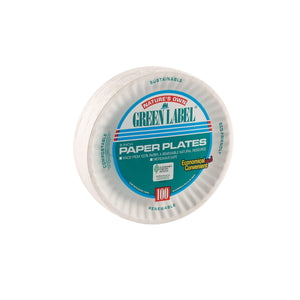 "Green Label 6"" Paper Plates - Dollar Max Depot"