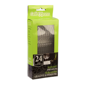 Cafe Express Clear Hd Forks 24/Pk36Pk - Dollar Max Depot