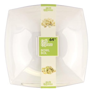 Cafe Express 64Oz Square Bowls Clear - Dollar Max Depot