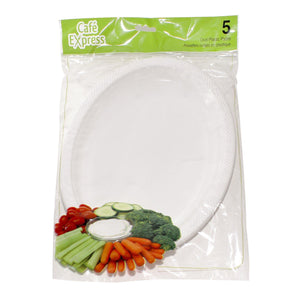 Cafe Express Plastic Oval Platters 5 - Dollar Max Depot