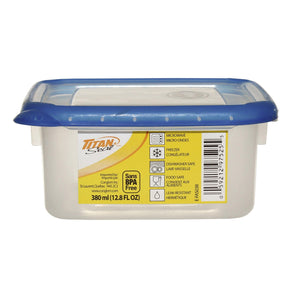 Titan Seal Short Square Food Container 0.38L