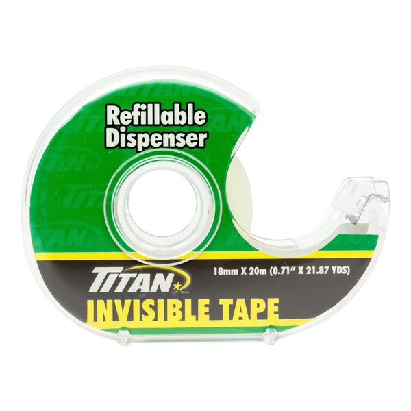 Titan Invisible Tape In Dispenser 18Mm20M