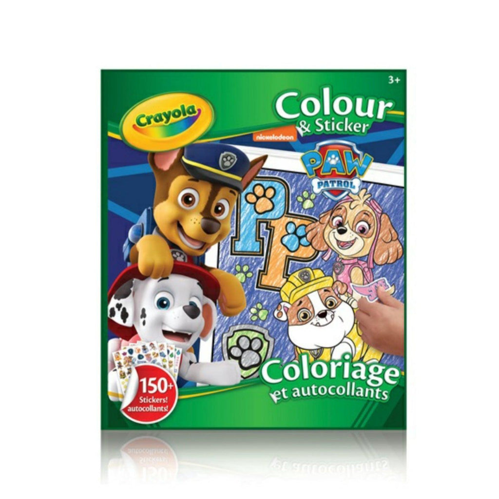 Crayola Paw Patrol Colour & Sticker Book