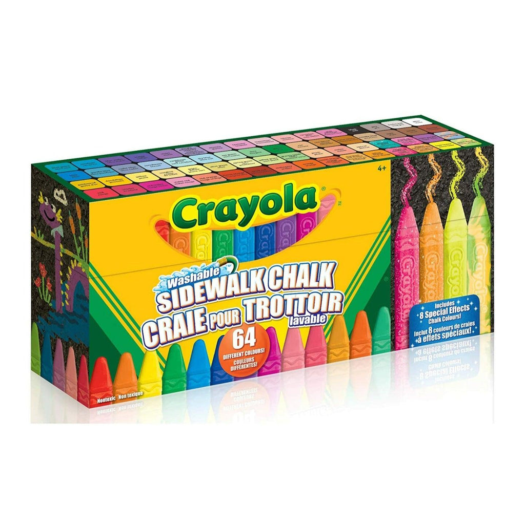 Crayola 64 Sidewalk Washable Chalks