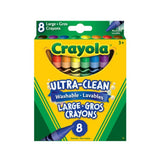 Crayola 8 Ultra-Clean Washable Crayons Large