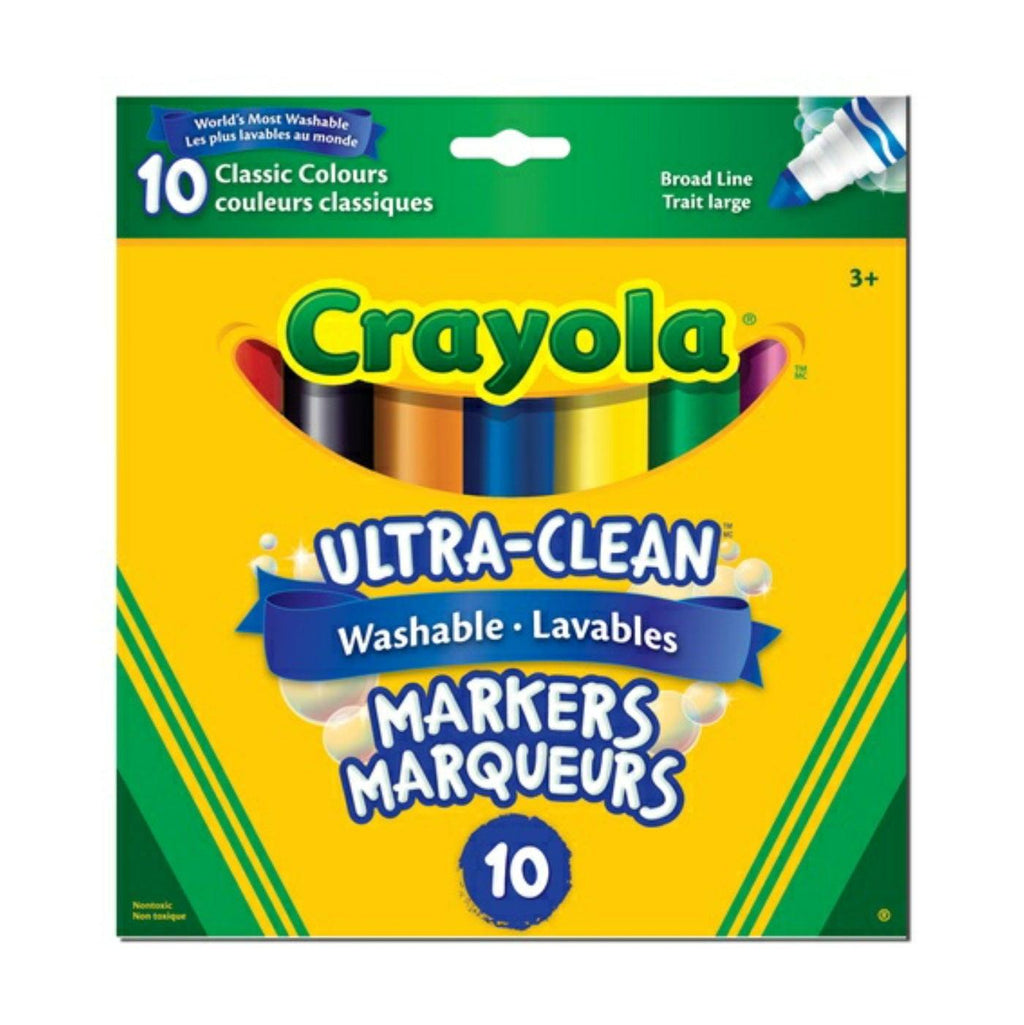 Crayola 10 Ultra-Clean Washable Broad Line Markers
