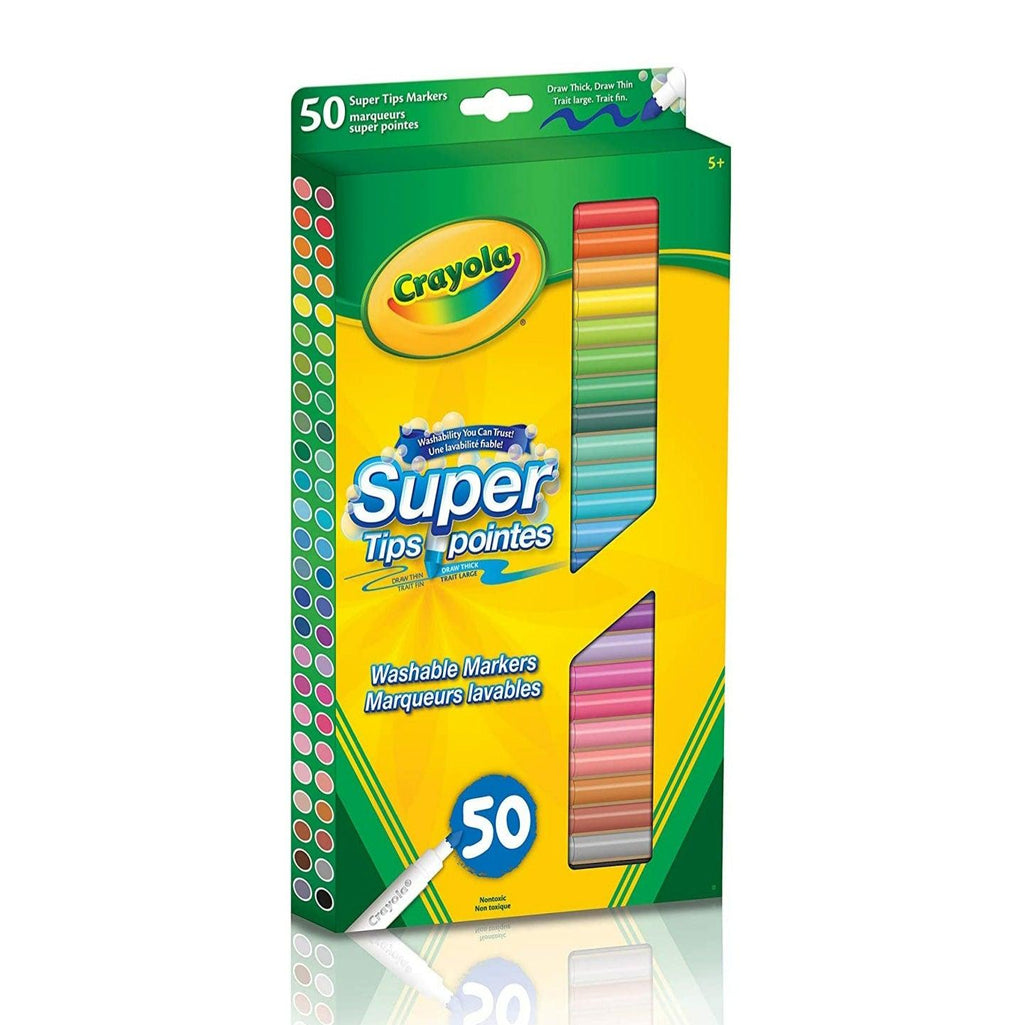 Crayola 50 Super Tips Washable Markers - Dollar Max Depot