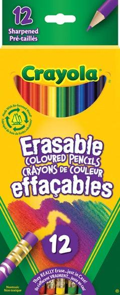Crayola 12 Erasable Coloured Pencils
