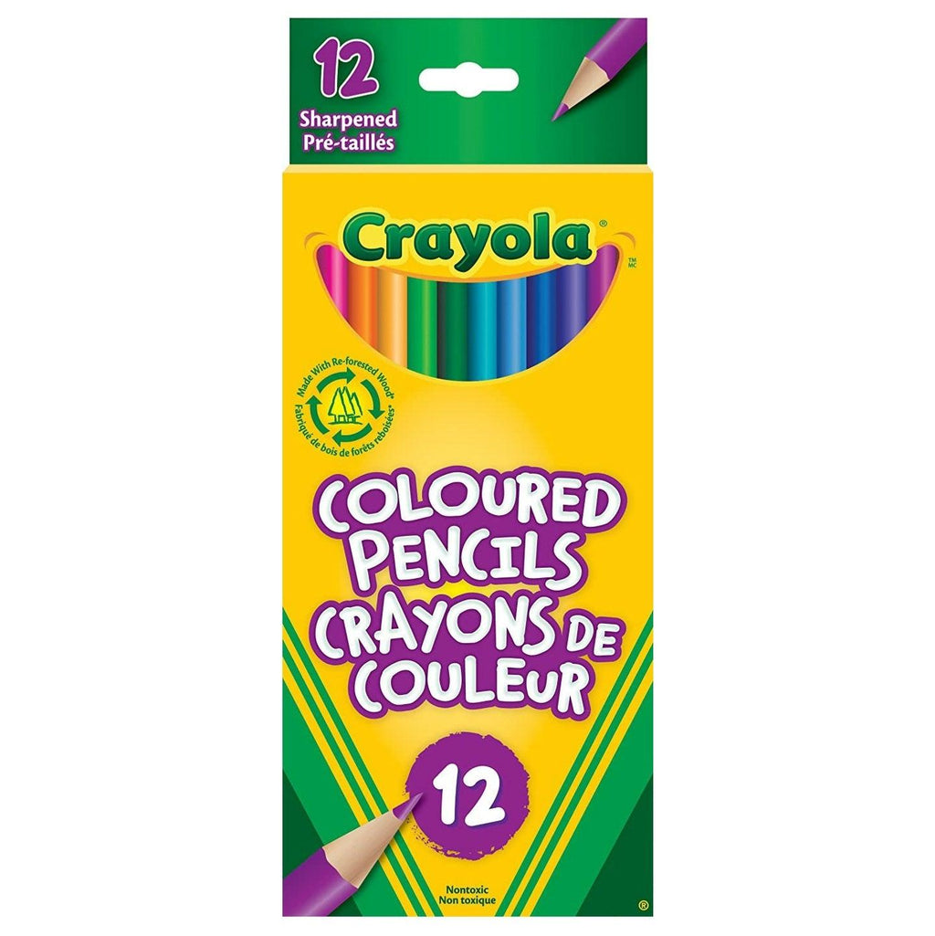 Crayola 12 Coloured Pencils - Dollar Max Depot