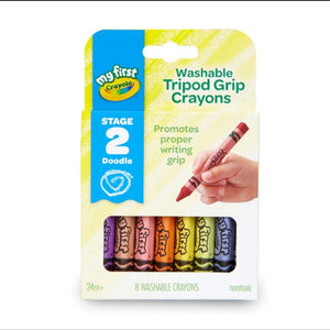 My First Crayola Washable Tripod Grip Crayons - Dollar Max Depot