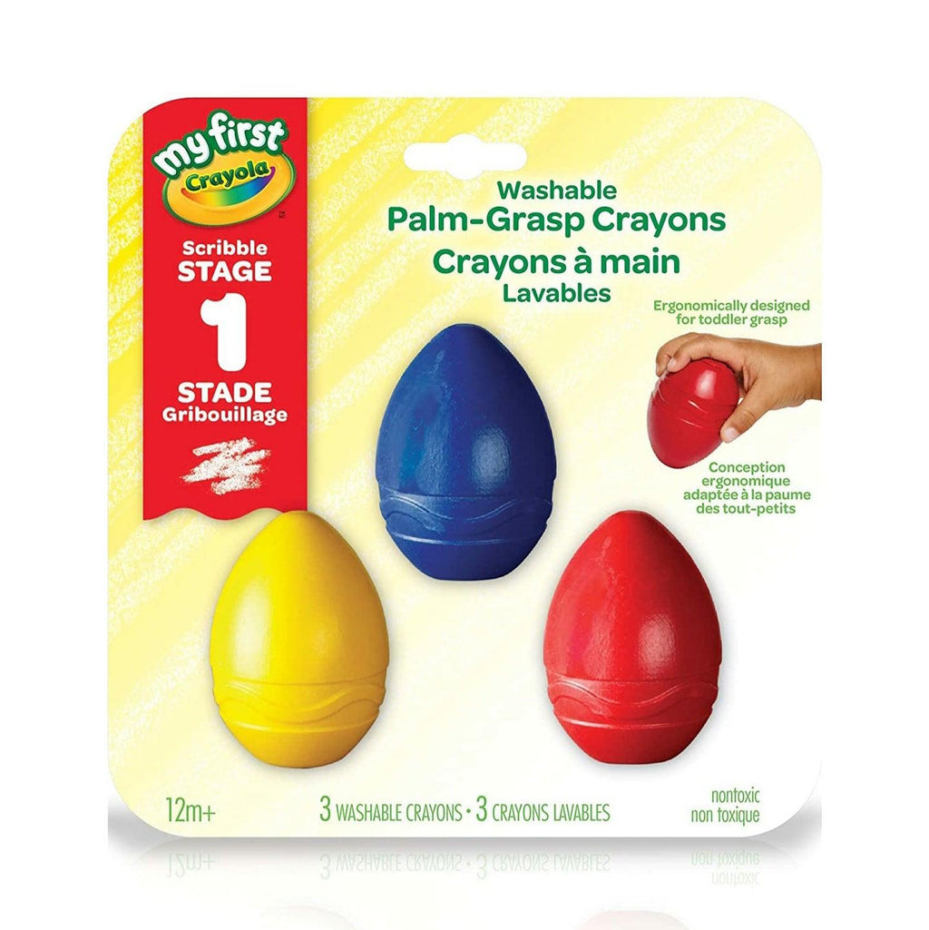 My First Crayola Washable Palm Grasp Crayons