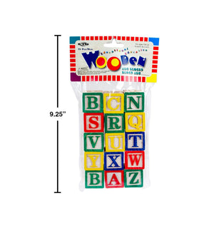 15-Pc Abc Wooden Block Set Vbh - Dollar Max Depot