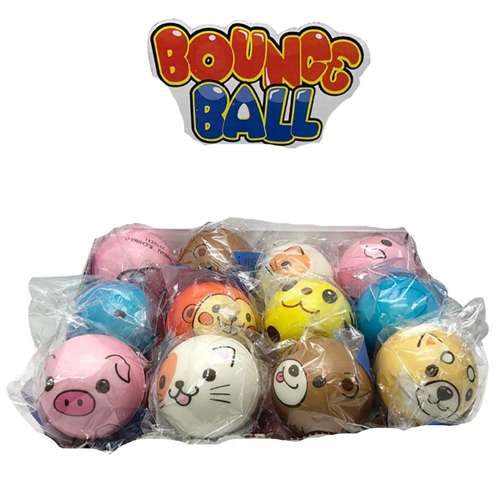 Animal Bouncing Ball 2in - Dollar Max Depot