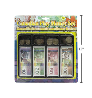 Canadian Play Money Set B/C - Dollar Max Depot