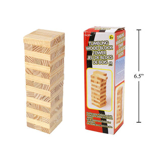 48-Pc Tumbling Wood Block Tower