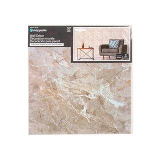 Idesign Wall Decals 2Pk Sq. Marble