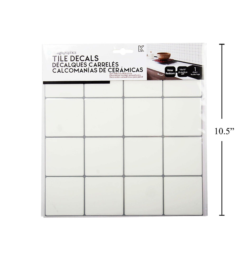Idesign Wall Decals Square Tile - Dollar Max Depot
