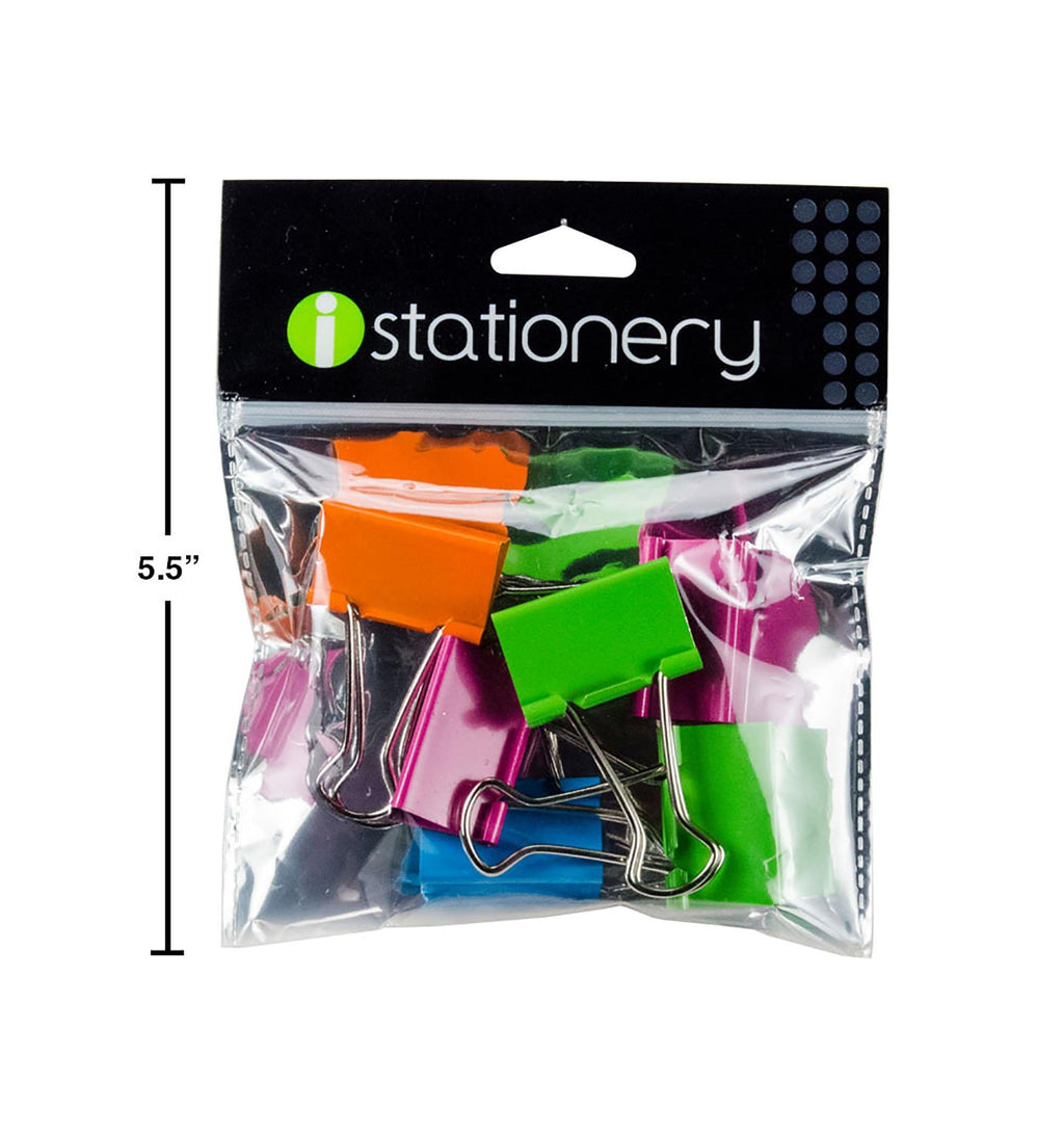 Istationery 6-Pc Binder Clips - Dollar Max Depot