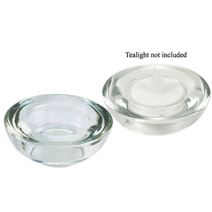 "3""D Glass Tealight Candle Holder"