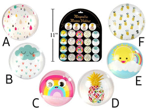 Rain Or Shine Round Glass Magnet - Dollar Max Depot