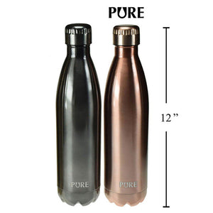 Pure 750 ml Thermos Metallic Bottle - Dollar Max Depot