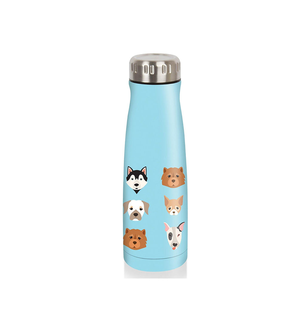 Pure 350 ml Thermos Bottle Kid Size Widemouth - Blue with Dogs - Dollar Max Depot