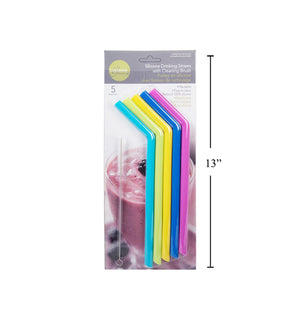 L. Gourmet 5-Pc Silicone Smoothie - Dollar Max Depot