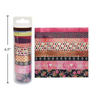 "Washi Tape ""Dark Floral"" Design 8 - Dollar Max Depot"