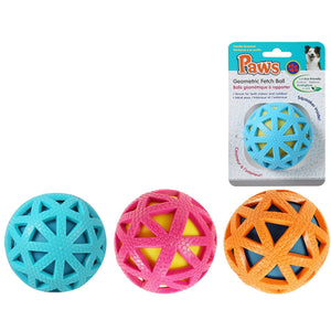 Paws Geometric Fetch Ball