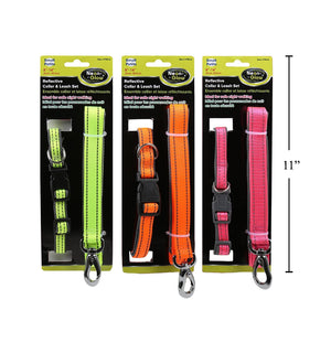 Paws Reflective Collar& Leash Set