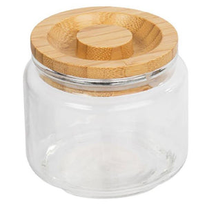 Luciano Glass Jar W/ Wooden Lid