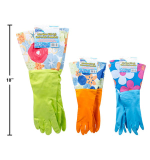 Fashion Latex Gloves W/Cuff - Dollar Max Depot