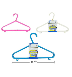 H.E. 6-Pc Kids Hangers - Dollar Max Depot
